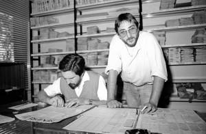 Nino Barbaresi e Michele Marziani all'impaginazione